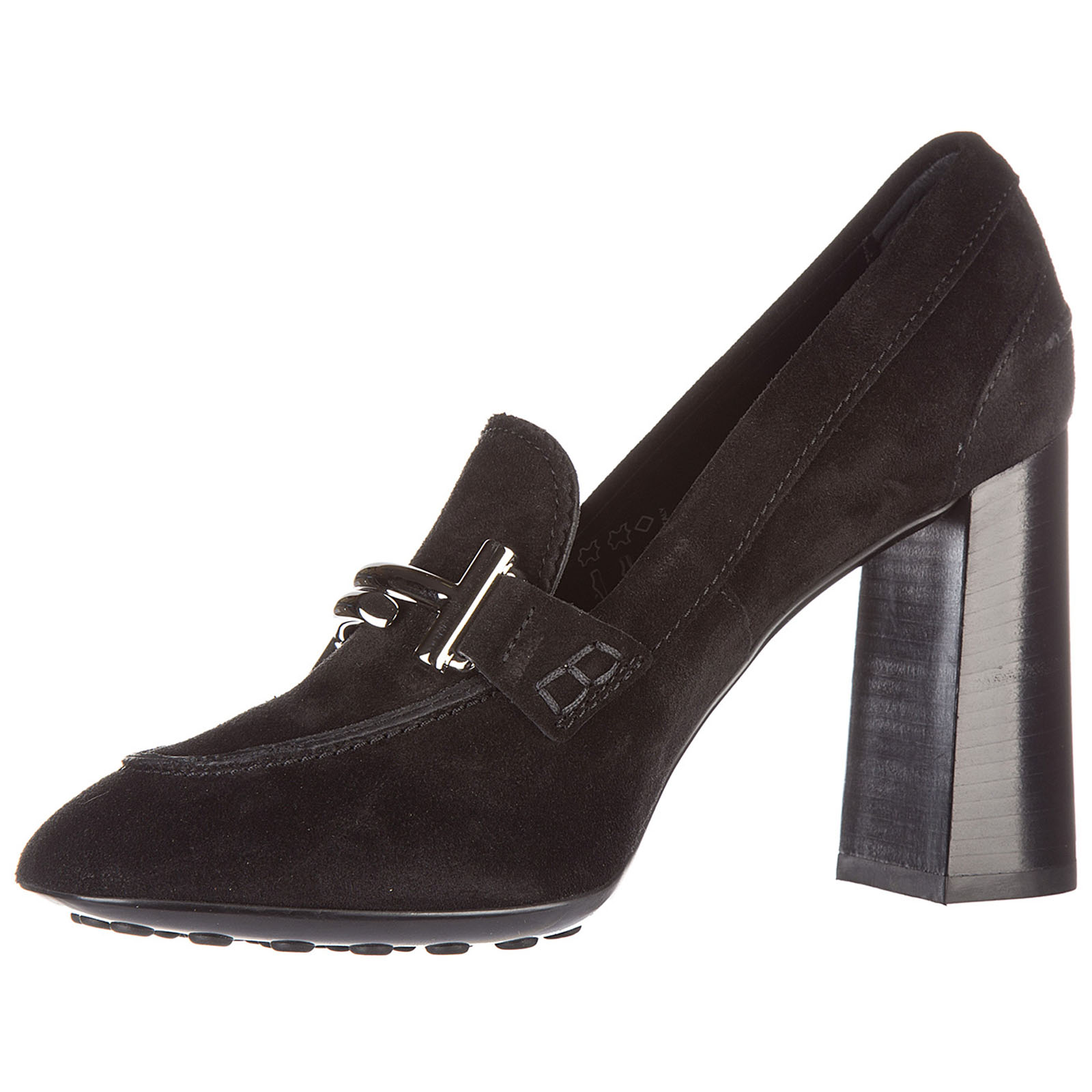 Zapatos de salón escotes mujer en ante gomma maxi double t