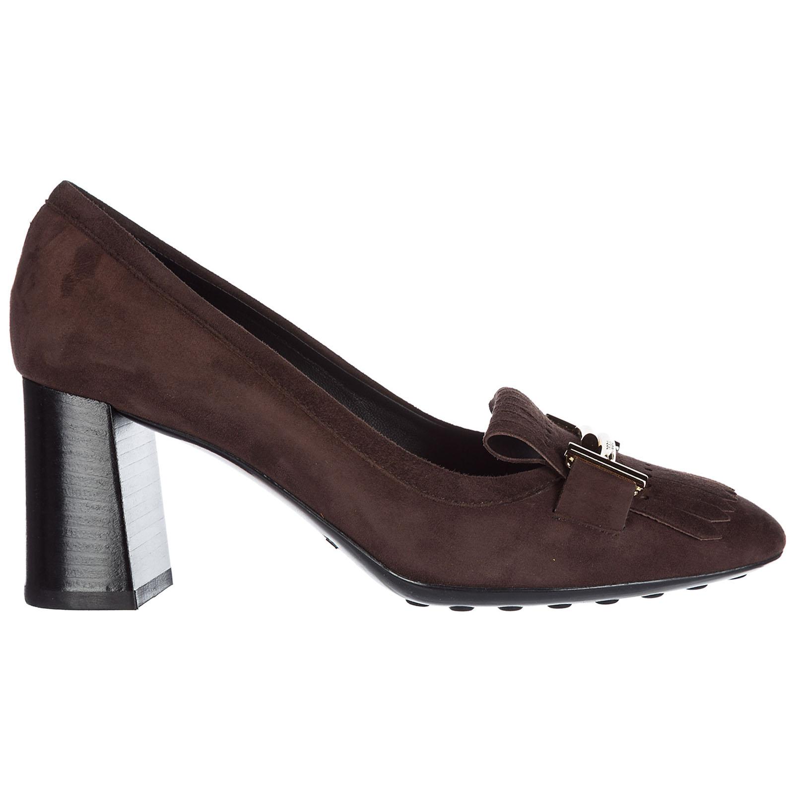 Decolletes decoltè scarpe donna con tacco camoscio t70
