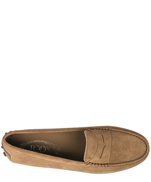 Women's suede loafers moccasins gommino secondary image