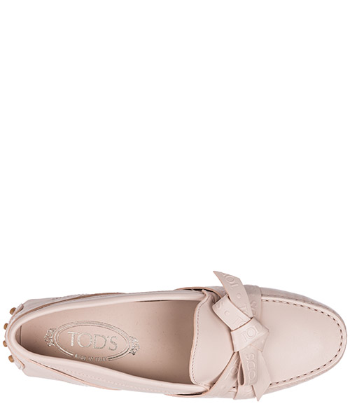 Damen leder mokassins slipper  gommini secondary image