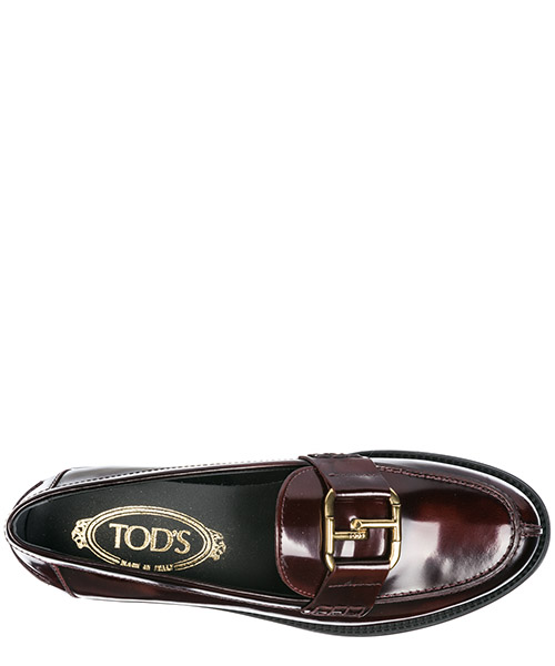 Women's leather loafers moccasins  double t secondary image