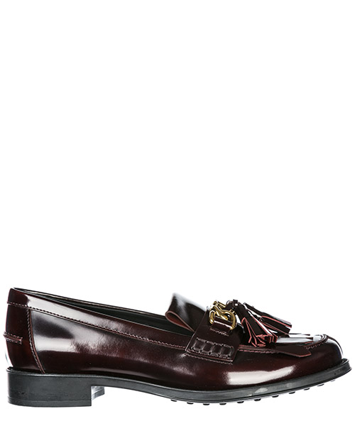 Mokassins Tod's double t xxw0ru0am20shar810 bordeaux