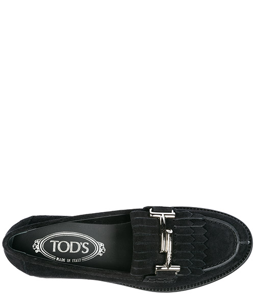 Mocassins femme en daim double t secondary image