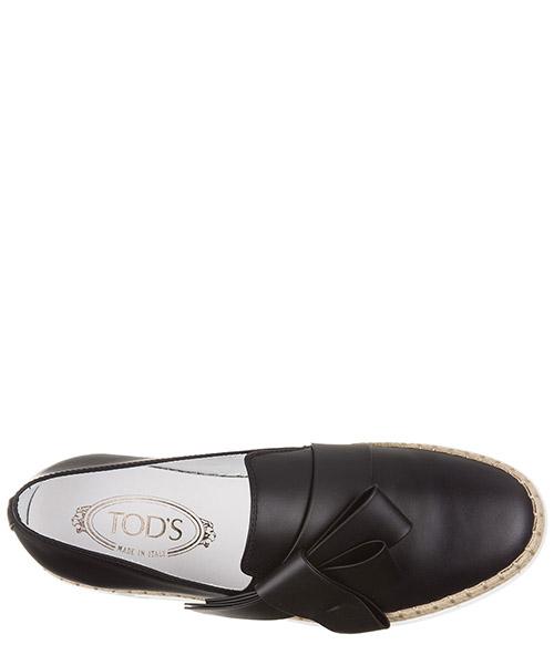 Slip on donna in pelle sneakers  gomma rafia fiocco secondary image