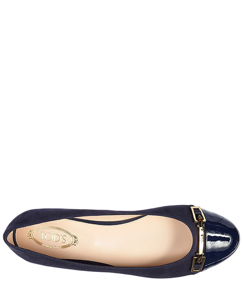 Women's leather ballet flats ballerinas  accessiorio clamp secondary image