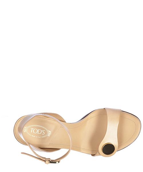Damen leder sandalen mit absatz sandaletten t90 cinturino bottone secondary image