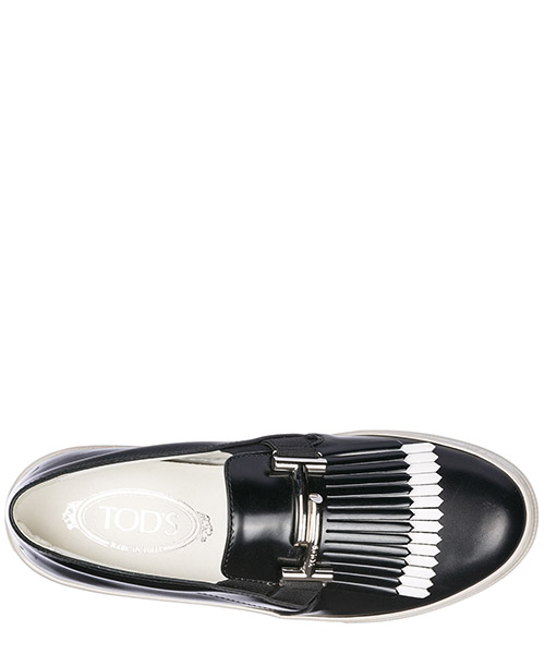 Damen leder slip on slipper sneakers  sportivo xk double t secondary image