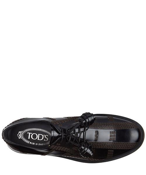 Clásico zapatos de cordones mujer en piel derby allacciata impunture secondary image