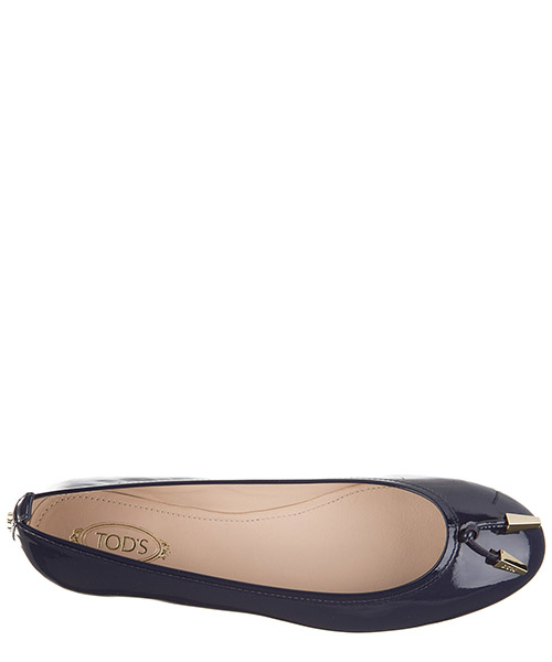 Women's leather ballet flats ballerinas secondary image