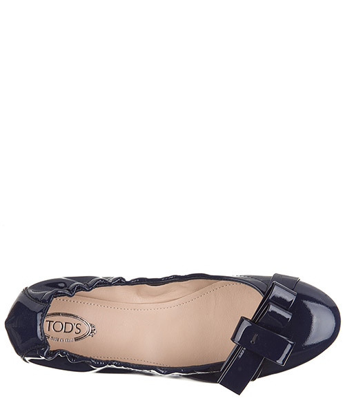 Damen leather ballet flats ballerinas  des yh bow secondary image