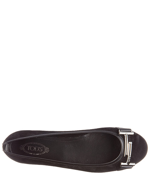 Damen wildleder ballet flats ballerinas double t secondary image