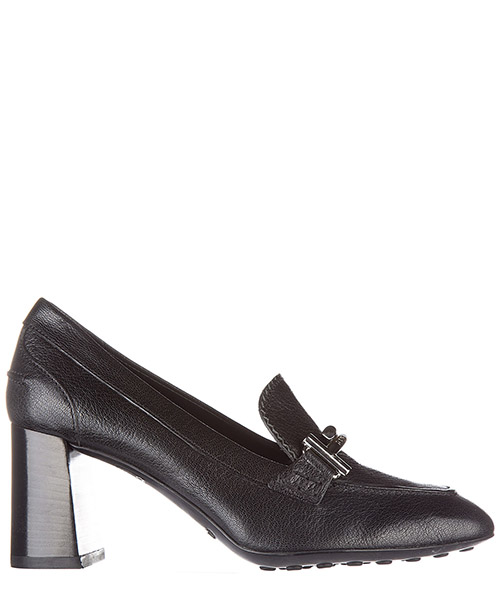 Damenschuhe leder pumps mit absatz high heels double t