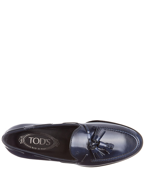 Damen leder mokassins slipper secondary image