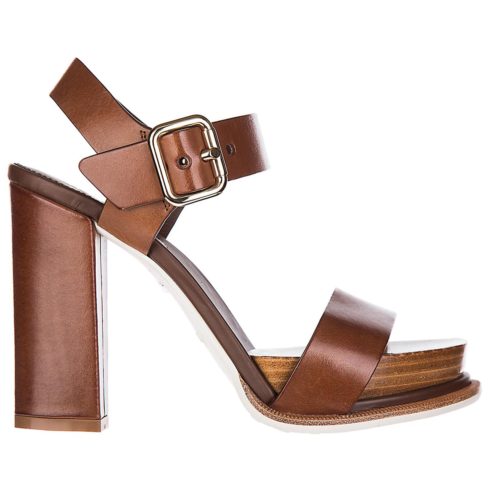 Sandalias de tacón mujer en piel