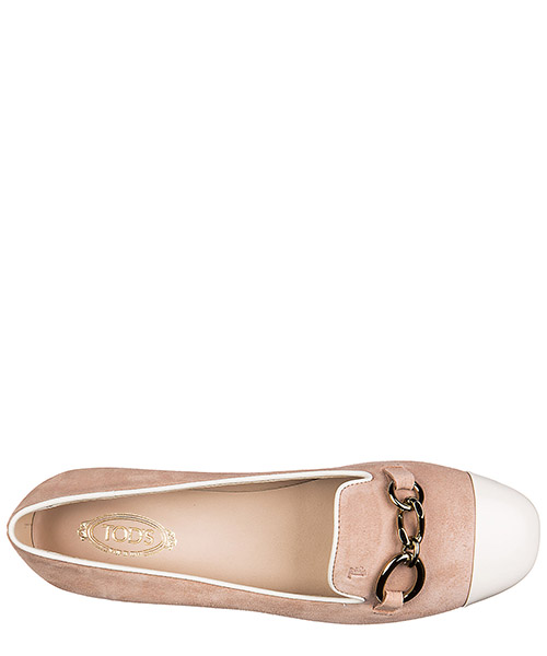 Women's suede ballet flats ballerinas cuoio catena puntina secondary image