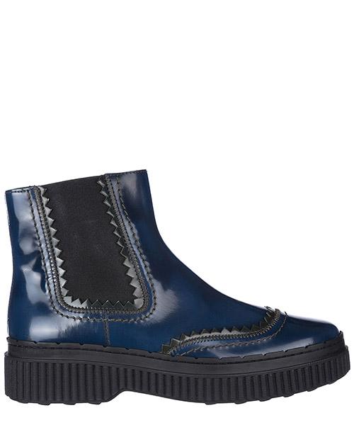 Ankle boots Tod's xxw39a0w340i480zxj blu