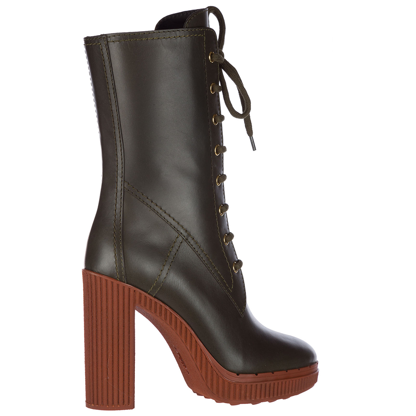 Women's leather heel ankle boots booties