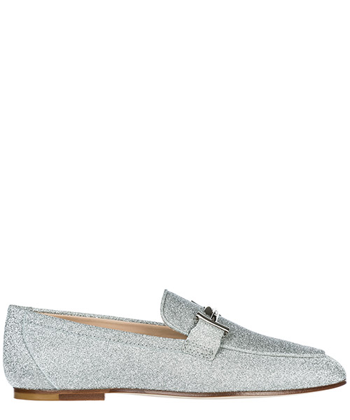 Mocasines Tod's Double T XXW79A0Z370LXGB200 argento