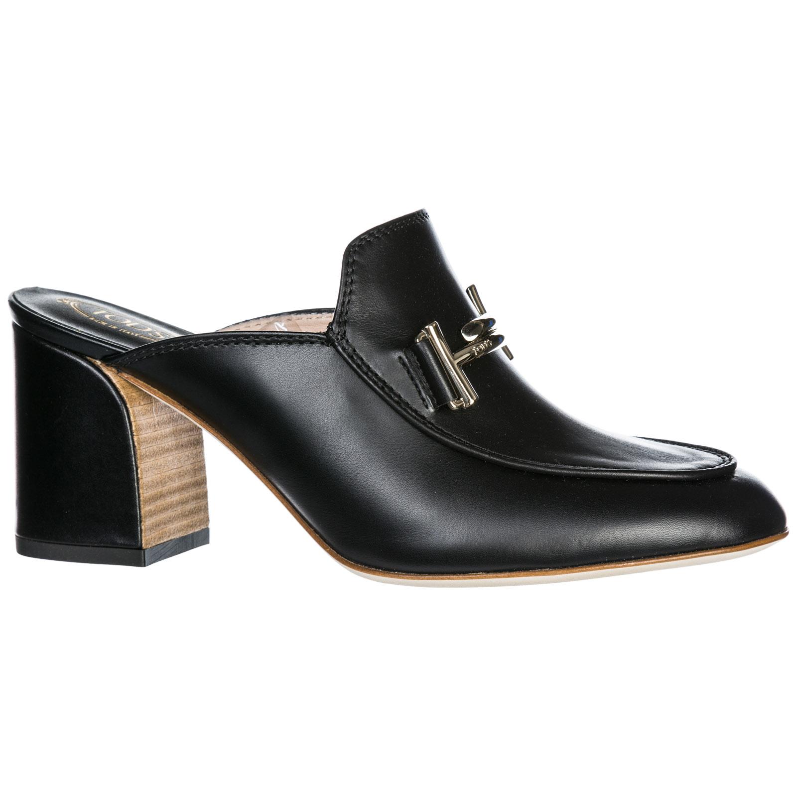 super popolare e8961 5aab1 Sabot scarpe donna in pelle double t