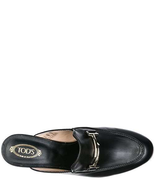 Women's leather mules clogs double t secondary image