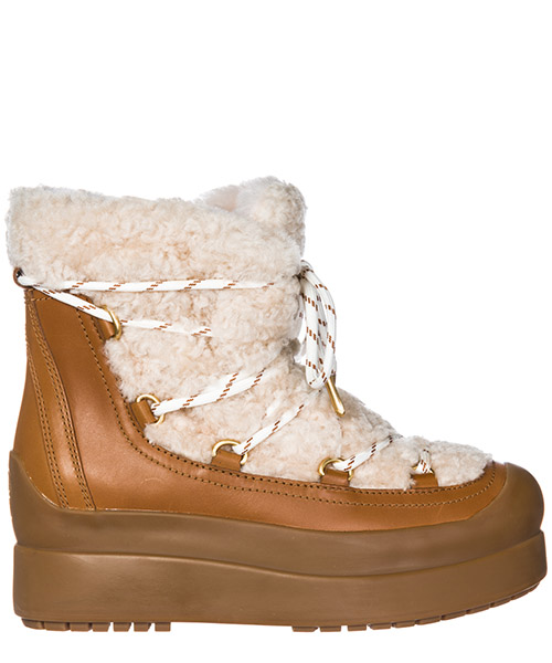 Demi-bottes Tory Burch 50059 natural