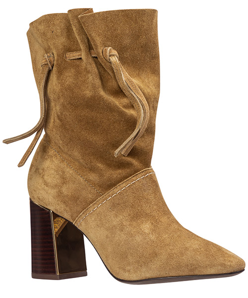 Women's suede heel ankle boots booties gigi secondary image