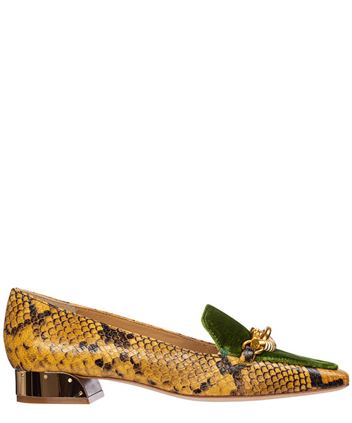 Mocasines Tory Burch jessa 60179 gold crest roccia / fern canyon