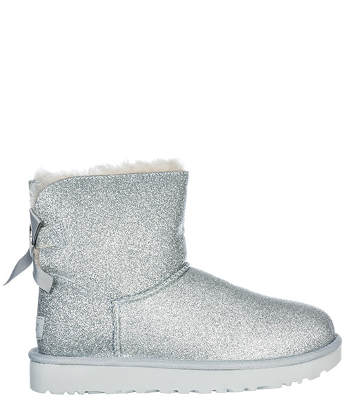 Stivali UGG Mini Bailey Bow Sparkle 1100053 silver
