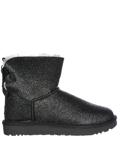 Stivali UGG Mini Bailey Bow Sparkle 1100053 black