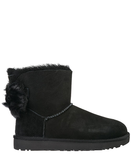 Ботильоны UGG Fluff Bow Mini 1094967 nero