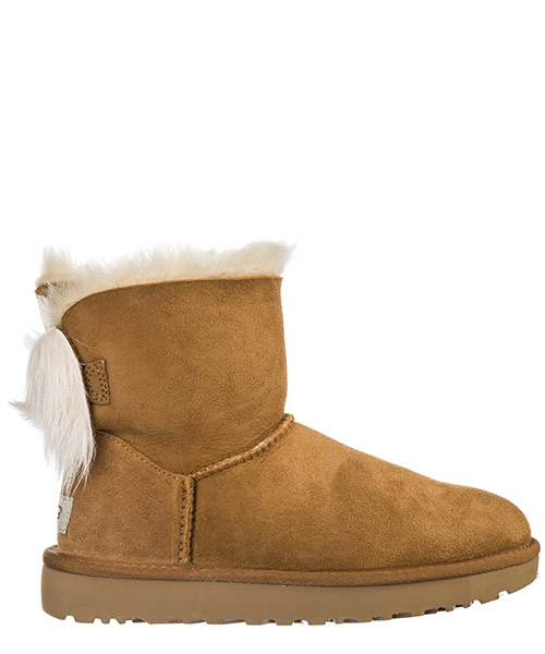 Ankle boots UGG fluff bow mini 1094967 marrone