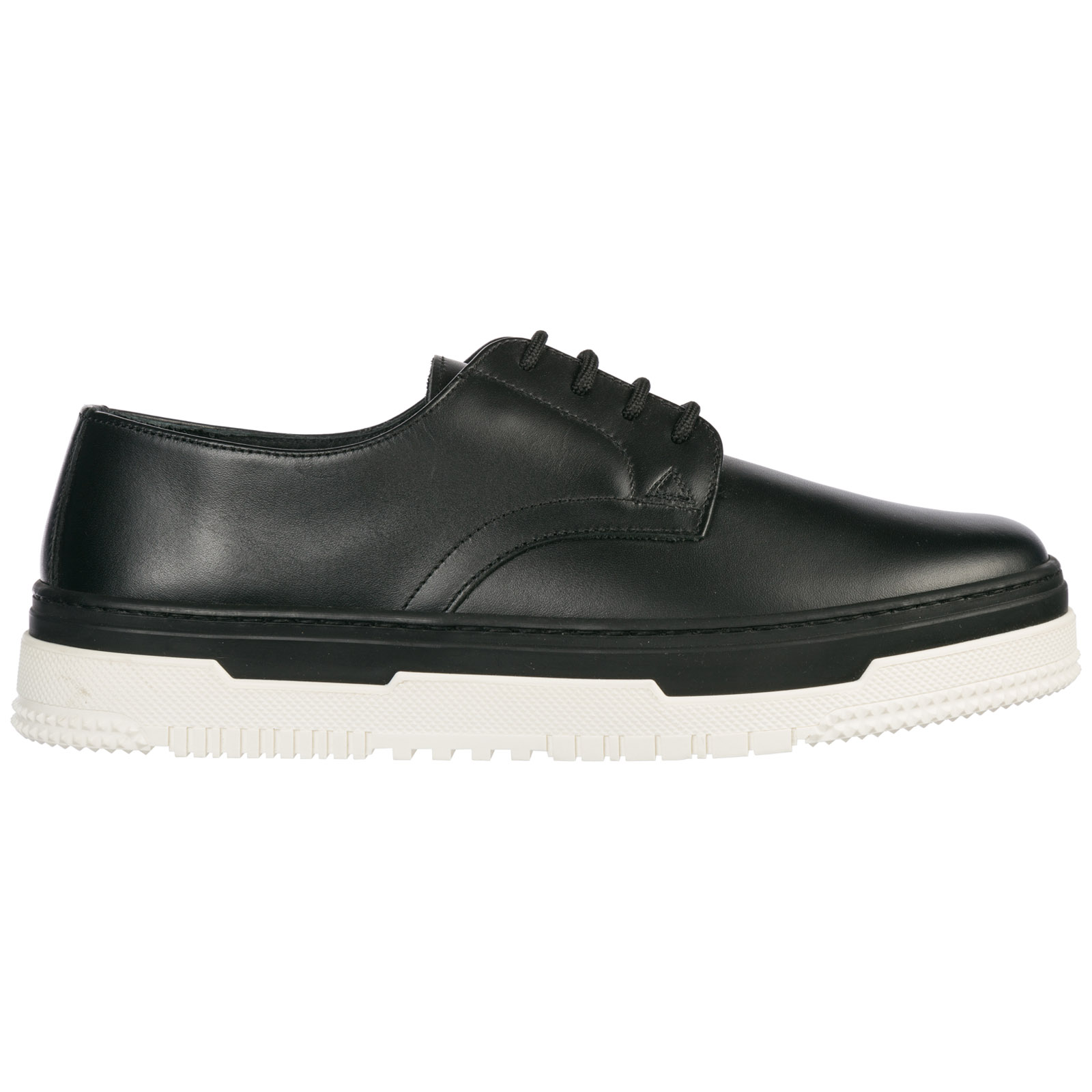 Valentino Men's Classic Leather Lace Up Laced Formal Shoes Derby In Black