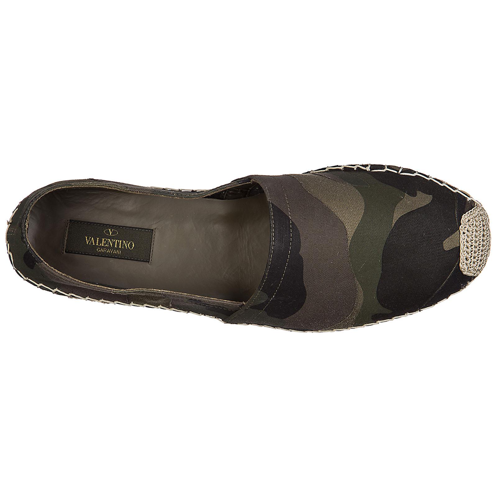 Men's cotton espadrilles slip on shoes camouflage