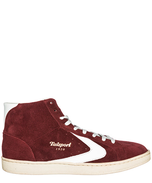 High top sneakers Valsport 1920 Tournament mid TOURNAMENT MID bordeaux bianco