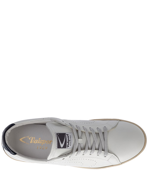 Men's shoes leather trainers sneakers tournament reflex secondary image