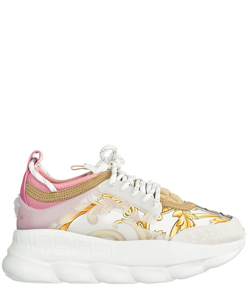 Sneaker Versace Chain reaction DSR705G-DICTG_DB5OS bianco + oro + shell pink
