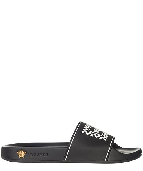Ciabatte Versace Logo 90S vintage DSR822C-DGOSV_DNWOT nero - bianco - oro