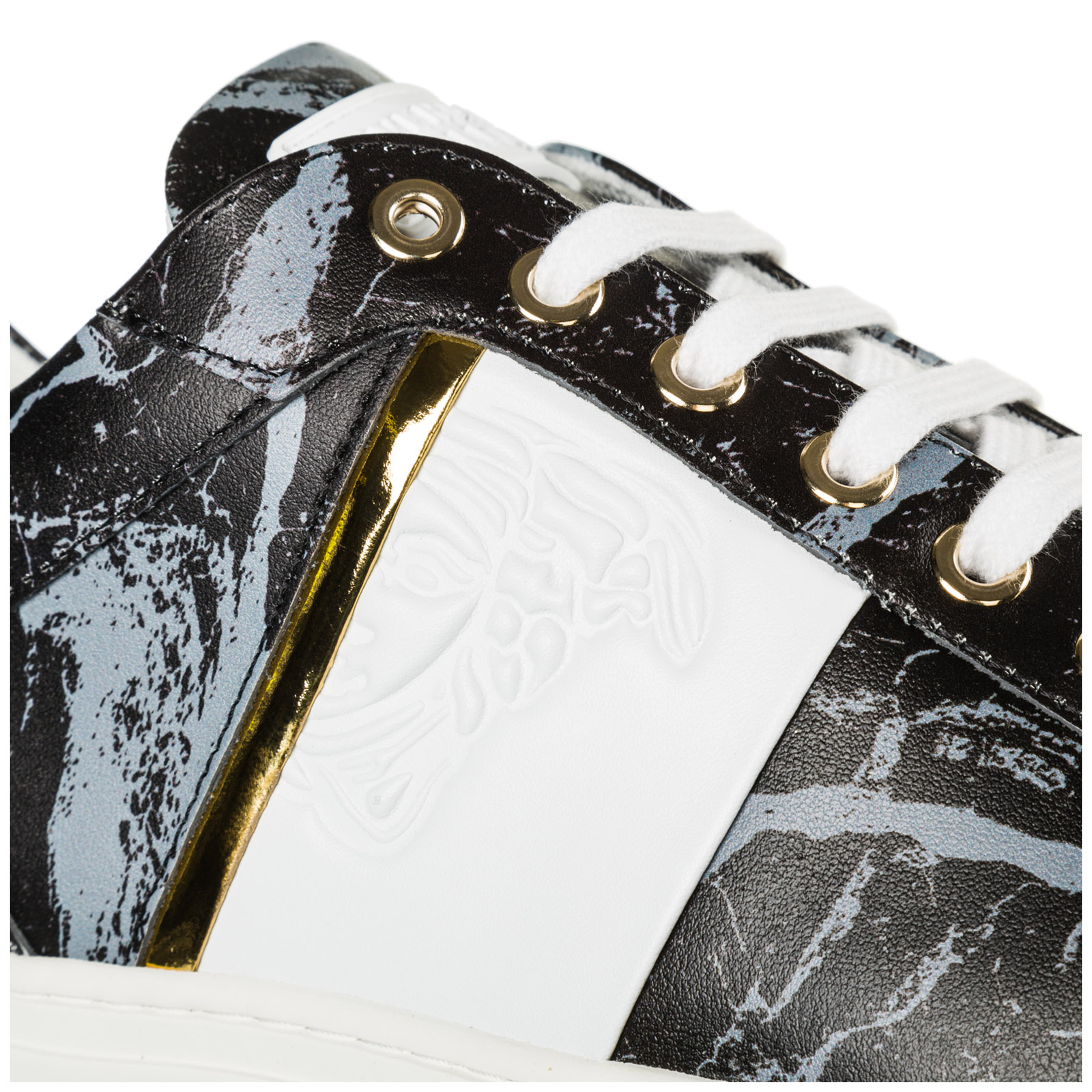 Men's shoes leather trainers sneakers medusa