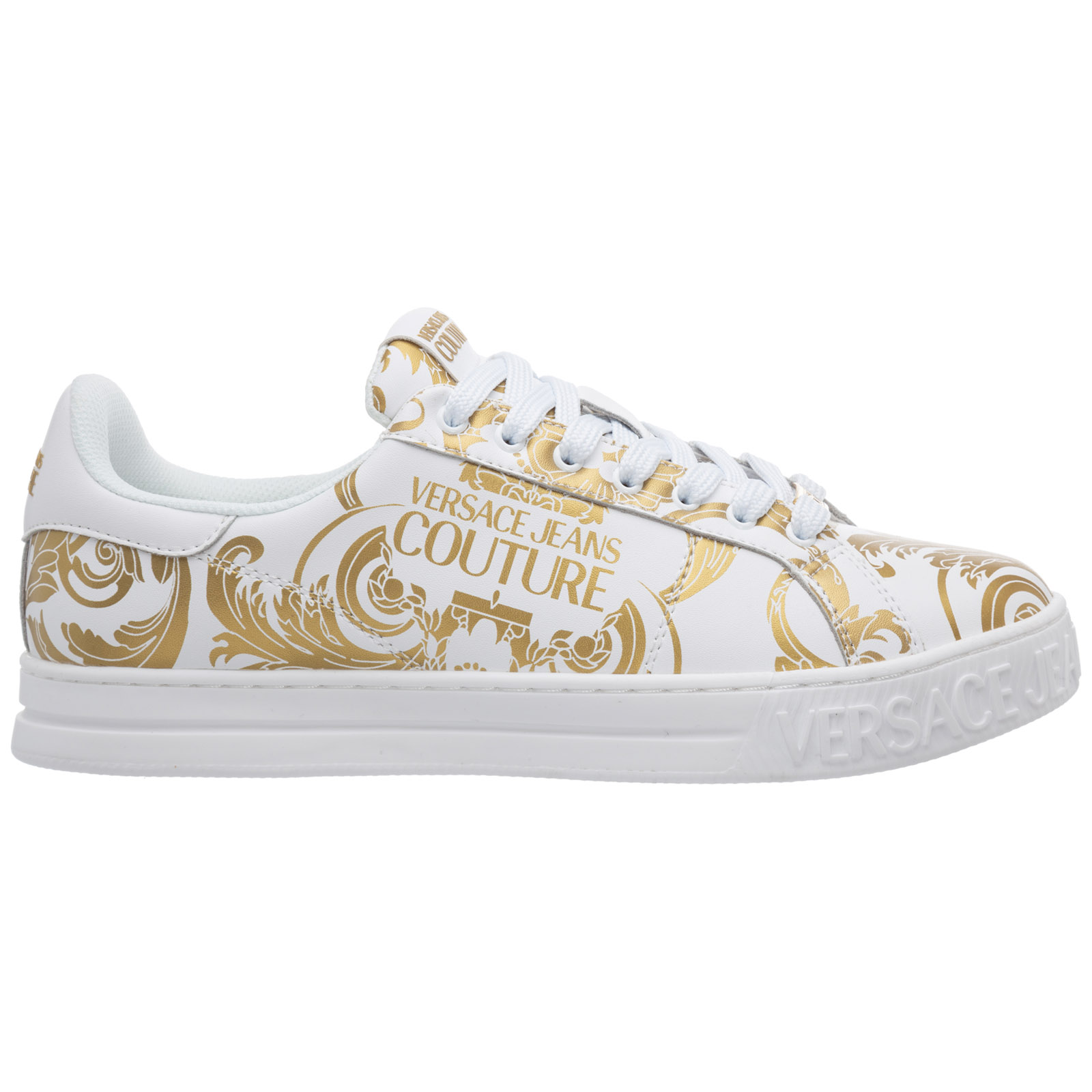 Versace Jeans Couture Sneakers MEN'S SHOES LEATHER TRAINERS SNEAKERS FONDO COURT