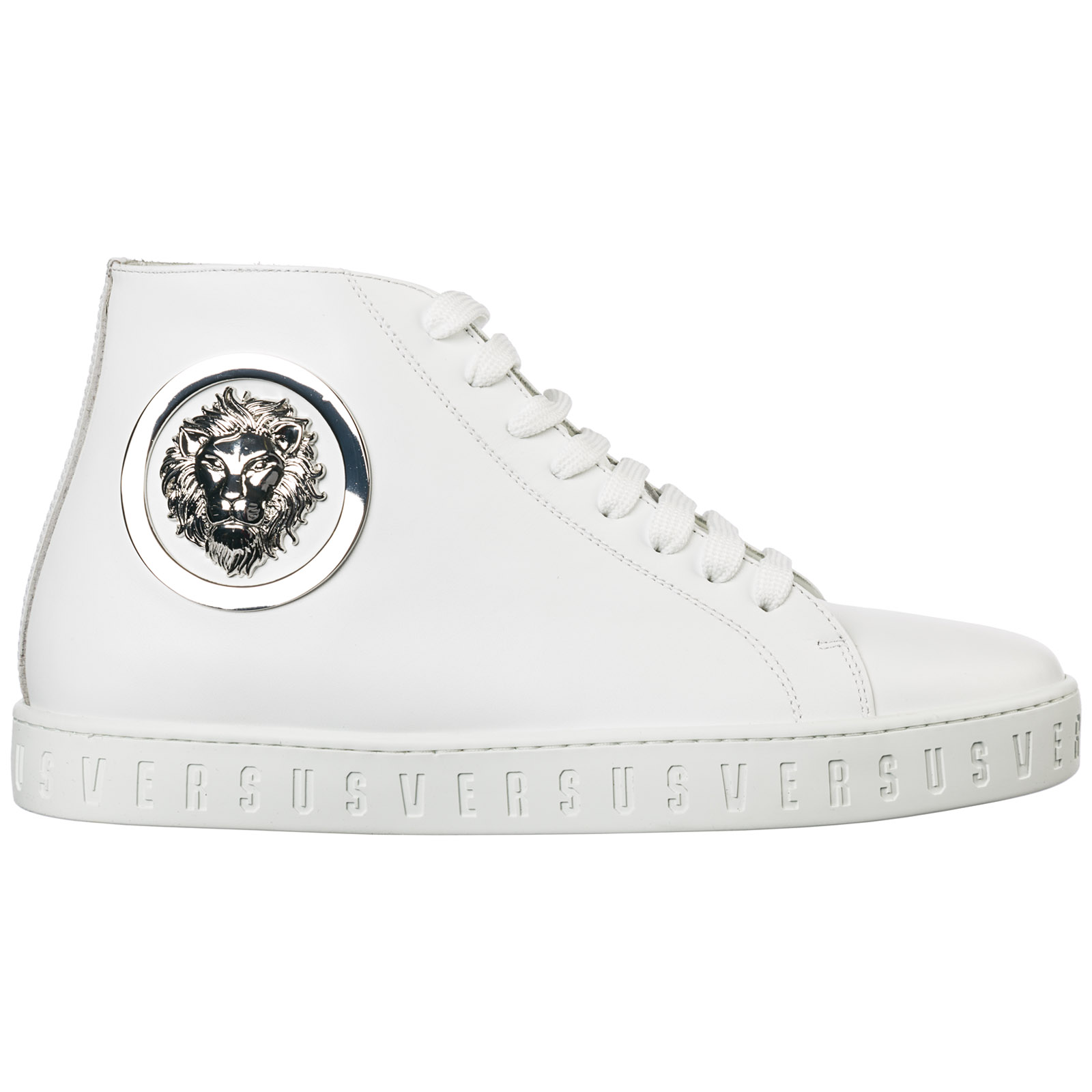 Men's shoes high top leather trainers sneakers lion head