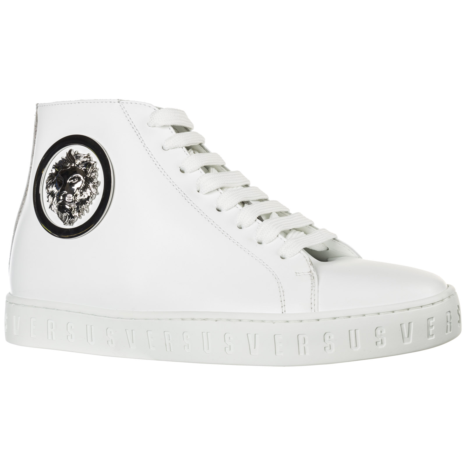 Women's shoes high top leather trainers sneakers lion head