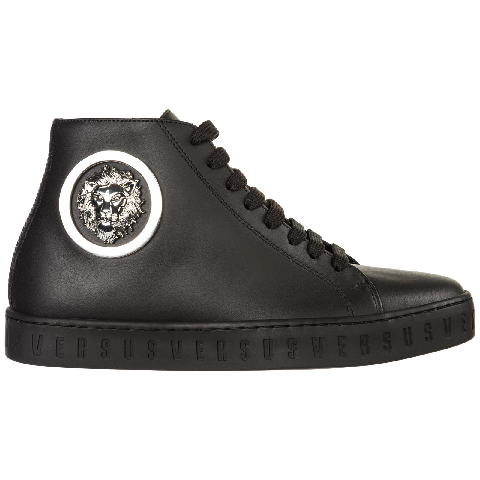 Scarpe sneakers alte donna in pelle lion head