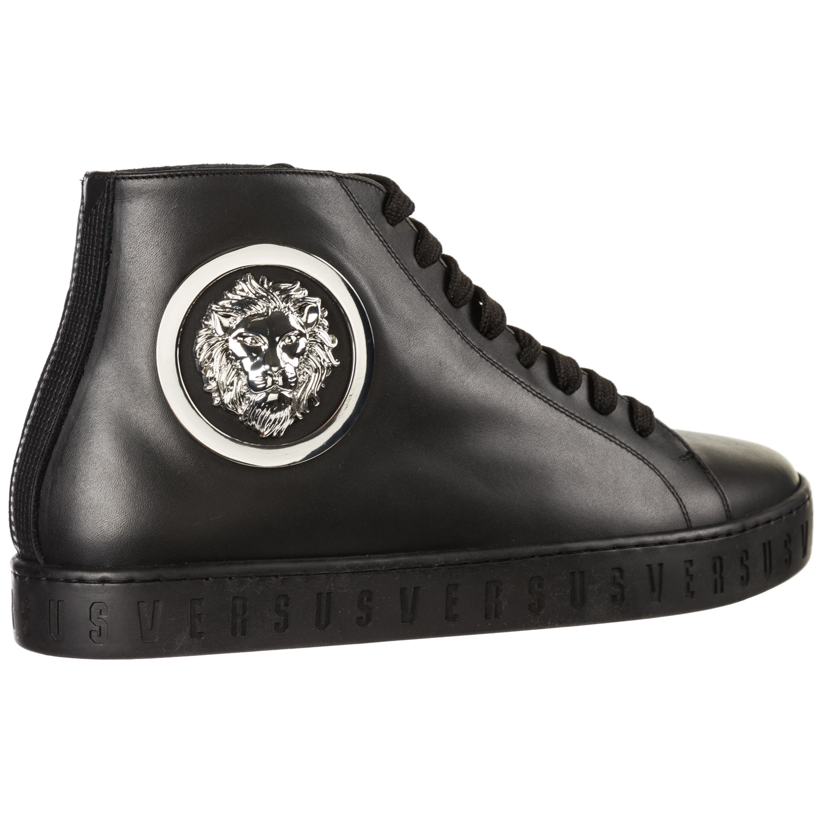 Scarpe sneakers alte uomo in pelle lion head