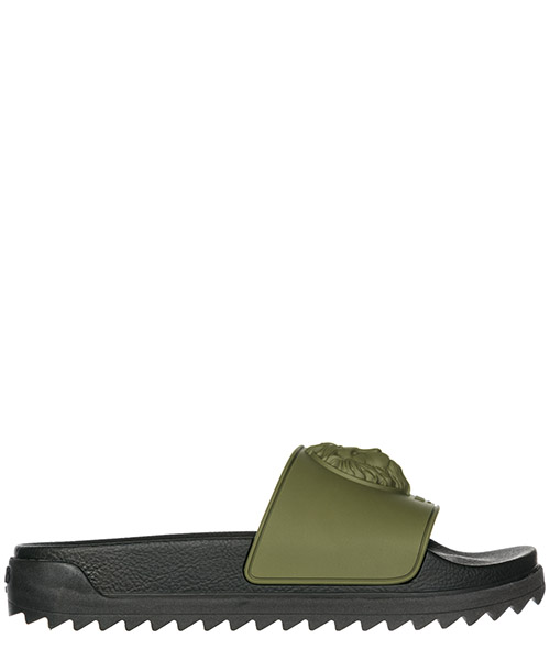 Pantolette Versus Versace Lion Head FSX065E-FGOMMA_F302 military green+black