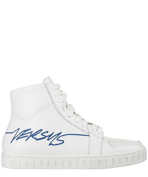 High top sneakers Versus Versace FSX089C-FVT_F076 optic white / bluette