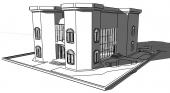 رسم ثري دي للمباني مع الاخراج (كلادنق فلل عماير ابراج ...)