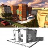 رسم 3D مباني ( فلل - كلادنق - عماير ..)