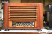 راديو خشب قديم يعمل بالمبات انتيك