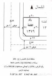 أرض للبيع شمال خميس مشيط على طريق وادي بن هشبل ( الصناعية)