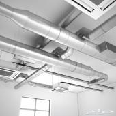 خطوات صناعة الدكت  duct fabrication - الافضل بالرياض لتمديدات الدكت وتأسيس دكت التكييف المركزي